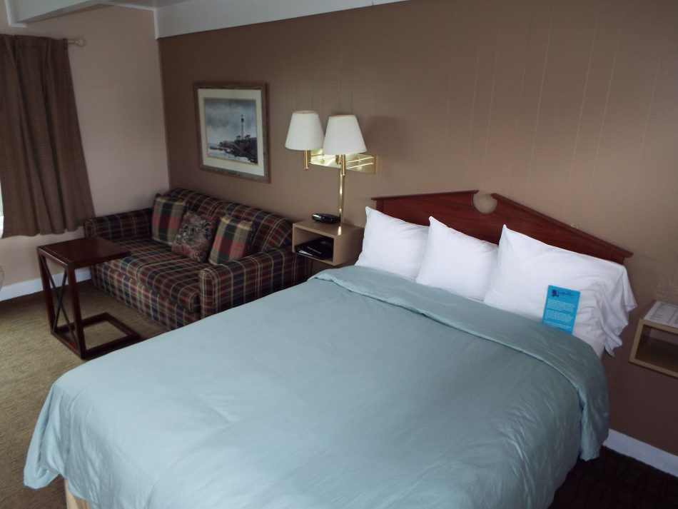 Room 112 side view first floor one queen bed