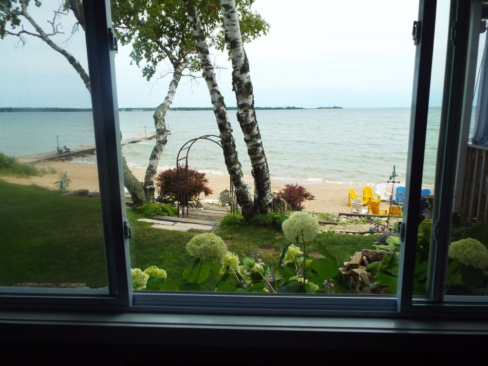 pet friendly, dogs welcome, lake view, King bed, beach view, Lake Michigan, First floor