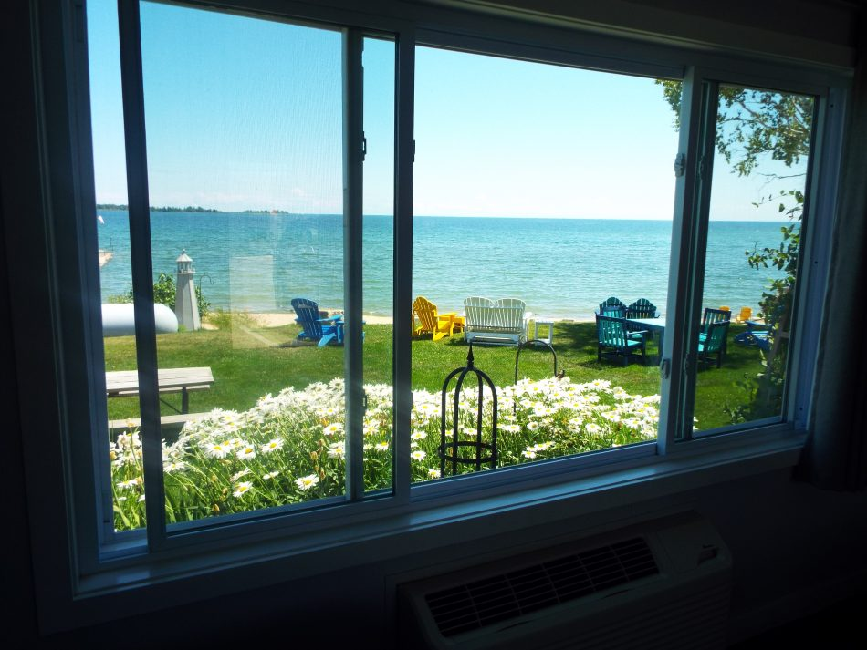 Lakefront View from 101 at Beachfront Inn Baileys Harbor, Door County