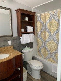 One of our recently renovated bathroom on the property